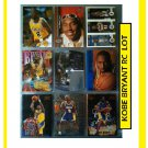 Kobe Bryant RC Lot (9) Lakers 1996-97 Rookie Card lot of 9 cards.