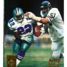 Emmitt Smith & Dick Butkus 1995 Collector's Edge TimeWarp Black Label 22K Gold #1  Cowboys