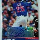 Derrek Lee #/25 Auto 2005 Leaf Autographed #40A Cubs, Orioles, Braves, Marlins, Padres