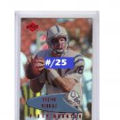#/25 Peyton Manning 1999 Edge 1st Quarter #66 Red Holofoil Parallel Broncos Colts