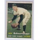 Red Schoendienst HOF 1957 Topps #154   Giants, Cardinals