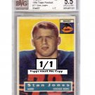 1/1 1956 Topps Football #71 Stan Jones RC Bears HOF - Topps Vault File Copy
