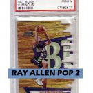 Ray Allen 1997 Stadium Club Triumvirate Luminous #T2A Heat, Celtics  POP 2