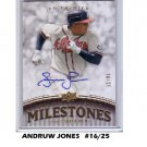 Andruw Jones 2008 UD Premier Milestones Autographs #/25 #PM-AJ Braves  Yankees Dodgers