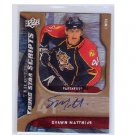 Shawn Matthias 2009-10 Upper Deck Trilogy Young Star Scripts #YSSM Autograph Panthers Canucks