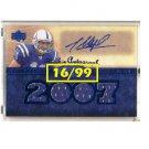 Anthony Gonzalez Auto RC 2007 UD Premier Materials Rookie Autograph #/99  Colts