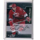 Erik Cole 2002 In the Game First Signature Card #229  Hurricanes RC Autograph