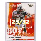 Shonn Greene RC 2009 Score Inscriptions Artist's Proof Rookie #28 Jets #/32
