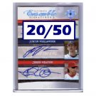 Justin Verlander, Jered Weaver #/50 RC 2006 Ultimate Collection Autograph #UES3-BWV Tigers Angels
