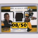 Emmanuel Sanders RC 2010 Threads Rookie Collection Prime Patch #12 Broncos Steelers #/50