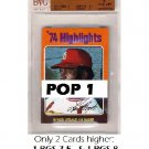 Lou Brock 1975 Topps Mini #2 Highlights Cardinals