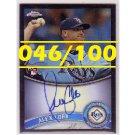 Alex Cobb 2011 Topps Chrome Black Refractor Autograph RC #207 Rays #046/100