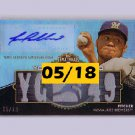 Yovani Gallardo #/18 Auto 2012 Triple Threads Autographed Relics #TTAR-13 Brewers