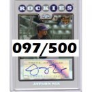 Jayson Nix 2008 Topps Chrome Refractor Autographed RC #236 Yankees