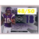 Sidney Rice 2008 Limited Material Monikers Autograph #MM-39 Seahawks Vikings