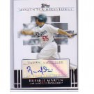 Russell Martin 2007 Topps M&M Autograph #MA-RM Dodgers, Yankees, Pirates
