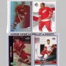 Gordie Howe 4 Card Lot with Inserts  Red Wings