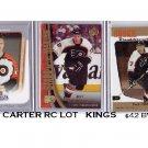Jeff Carter 3 Card RC Lot - Kings 2005-06