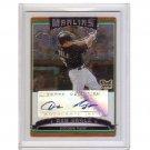 Dan Uggla 2006 Topps Chrome Autographed RC # 254 Braves Marlins