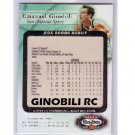 Emanuel Ginobili 2002-03 Fleer Box Score RC #7 of 15-BSD Spurs