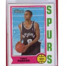 Tony Parker 2001-02 Topps Heritage RC #205 Spurs