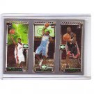 LeBron James RC, Carmelo Anthony RC, Dwyane Wade RC 2003-04 Topps Rookie Matrix #JAW Cavs