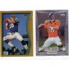 Peyton Manning 2-Card Lot 1998 Topps RC Reprint + 2012