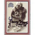 Lenny Moore Autographed Card - Baltimore Colts, HOF
