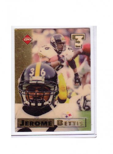 Jerome Bettis 1998 Collector's Edge First Place Triple Threat #25 - Blank Back Error  Steelers