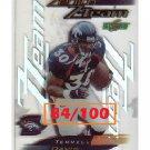 Terrell Davis HOF 1999 Zenith Z-Team #ZZT-8 Broncos #/100