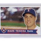 Mark Teixeira RC 2001 Fleer Tradition #470 RC Yankees, Rangers Rookie