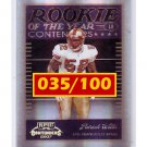 Patrick Willis 2007 Playoff Contenders ROY # ROY-26 RC 49ers #035/100