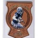 Deion Sanders 2000 Playoff Absolute Canton Absolutes #CA-18 Die-Cut Cowboys
