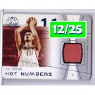 Yao Ming 2003-04 Flair Final Edition Hot Numbers Jersey #HN-YAO Rockets #12/25