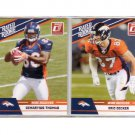 2010 Donruss Rated Rookie Decker & Thomas 2-Card Rookie Lot Broncos