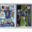 2011 Topps Chrome Refractor Lions 2-Card Lot Johnson & Stafford