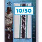 Hanley Ramirez 2007 SP Authentic BTL Autograph #BL-33 Dodgers, Marlins Red Sox #/50