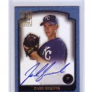 Zack Greinke RC 2002 Bowman Signs of Future Authentic Autograph #SOF-ZG Dodgers