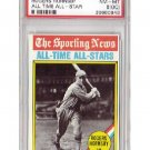 Rogers Hornsby 1976 Topps #342 All-Time All Star Cardinals HOF PSA NM-MT