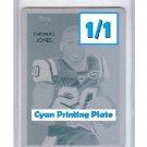 1/1 Thomas Jones 2009 National Chicle Cyan Printing Plate #188