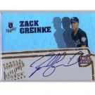 Zack Greinke 2005 Topps Pack Wars Autograph #PWA-ZG Dodgers