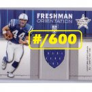 Dallas Clark 2003 Leaf R&S Freshman Orientation Jersey #FO-25  RC Colts