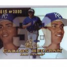 Carlos Beltran 1999 Flair Showcase Showtime #84 Yankees Cardinals, Mets #/3000