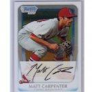 Matt Carpenter 2011 Bowman Chrome Prospects #BCP66 Cardinals