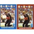 Marques Colston 2008 Topps Chrome Refractor 2-Card Lot #TC-81 Saints