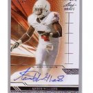 Aaron Williams 2011 Ultimate Leaf Draft Autograph #U-AW1 Buffalo Bills #33/49