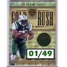 LaDainian Tomlinson  #01/49 2011 Panini Gold Standard Gold Rush Materials Jersey #17 Jets, Chargers