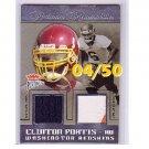 #/50 Clinton Portis 2004 Fleer Platinum Platinum Memorabilia Dual #PMD-CP2
