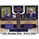 #/250 Eli Manning RC 2004 Honors Rookie Quad Jerseys #RQ-1 Giants