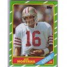 Joe Montana 1986 Topps #156 49ers